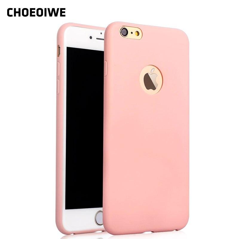 Choeoiwe i5 5S ультра тонкий мягкий силиконовый чехол для iPhone 5 5S SE мило конфеты Мятный Розовый Цвет сзади Чехол Fundas крышка В виде ракушки