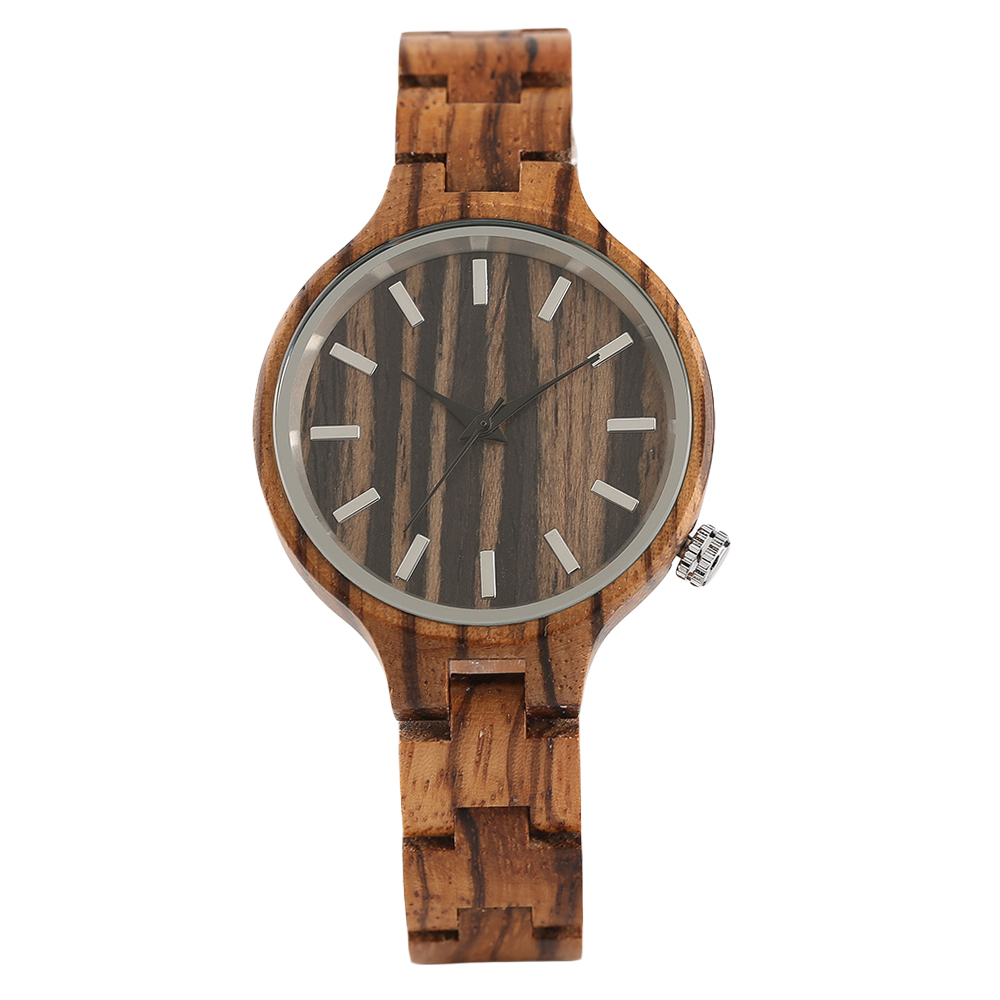 Full Bangle Wooden Nature Bamboo Wrist Watch Women Creative Handmade Simple Wood Ladies Quartz Watches luxury top brand full wooden watches handmade nature wood hollow wrist watch women men fold clasp creative casual bamboo gifts