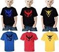 2-10 anos POKEMON IR Meninos verão T-shirt de Manga Curta Roupa Dos Miúdos Meninos Camiseta Crianças Dos Desenhos Animados Do Bebê Do Algodão's T-shirt