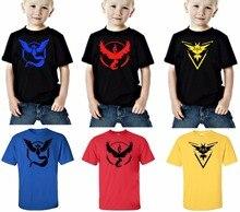 2-10 years POKEMON GO summer Boys T-shirts Short Sleeve Kids Clothes Cotton Baby Boys T Shirt Cartoon Children's T-shirt