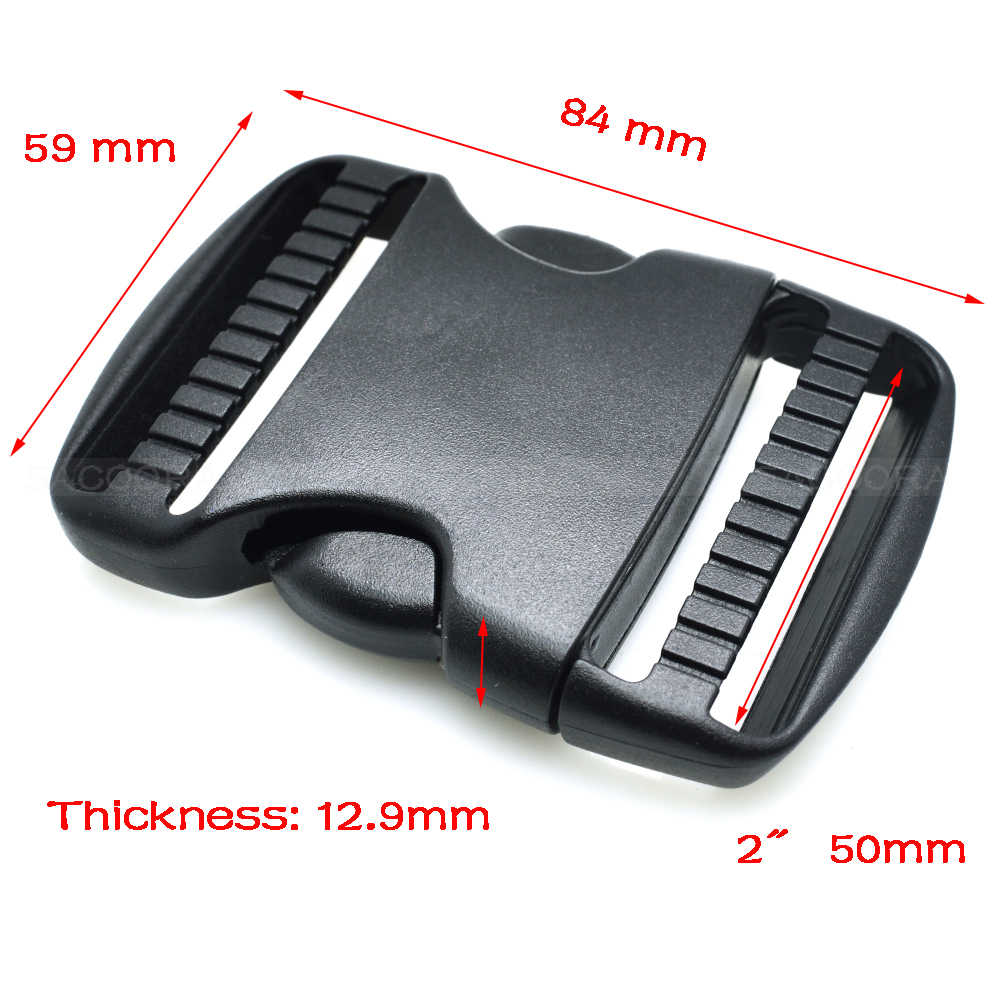 20mm 25mm 32mm ~ 50mm Plastic Hardware Dual Verstelbare Zijsluiting Molle Tatical Rugzak Riem tas Onderdelen Strap Webbing