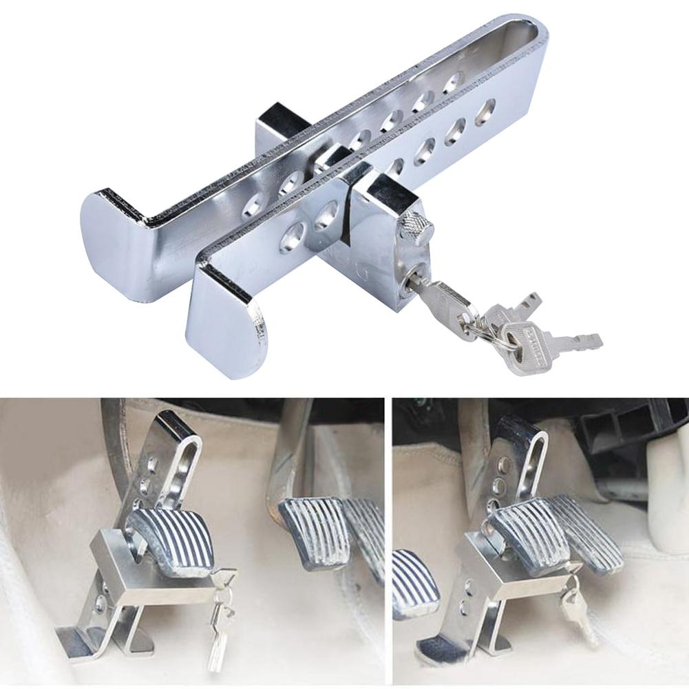 Auto Bremse Kupplung Pedal Lock Edelstahl Anti-Diebstahl Gerät Starke Sicherheit für Universal Autos Einbrecher Alarm Hohe Qualität
