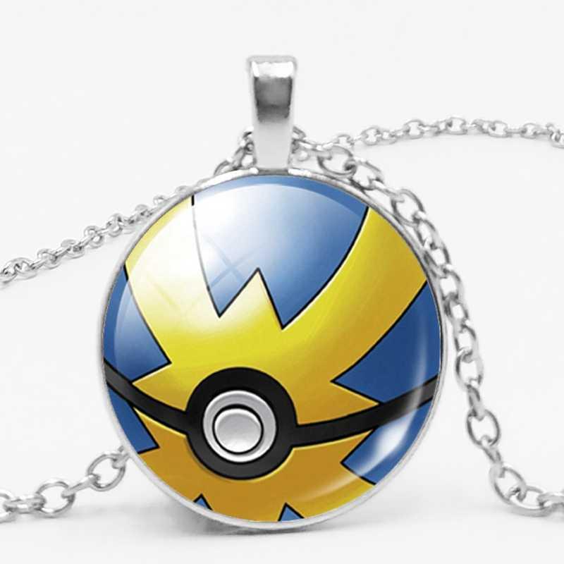 Hot!! Phim hoạt hình Phim Hoạt Hình Trò Chơi Pokemon ĐI Poke Bóng Biểu Tượng Quyến Rũ Thủy Tinh Vàng Mặt Dây Chuyền Vòng Cổ Trang Sức Trẻ Em Món Quà Sinh Nhật