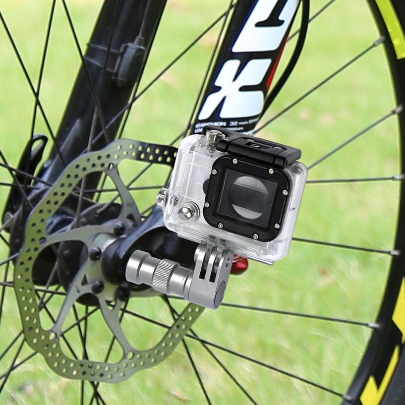 BGNING Portable Bicycle Camera Mount Wheel Hub Bracket Sport Action Camera Bike Mount Holder for GoP