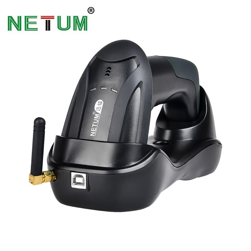 Портативный беспроводной CCD сканер штрих-кода NETUM, 32 бит, простая зарядка, 2,4G, беспроводной считыватель штрих-кодов для POS и инвентаризации...