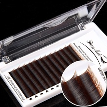 12Rows Faux mink individual eyelash lashes cilios for professionals soft extension