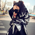2016 new imitation cashmere Luxury Brand scarves long fringed scarf woolen women Winter Warm Fashion British Wind dual-use shawl