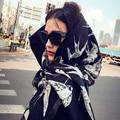 2016 new imitation cashmere Luxury Brand scarves long fringed scarf woolen women Winter Warm Fashion British Wind dual-use shawl