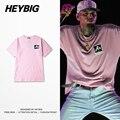 DEIXE QUE ELES ODEIAM! rosa juventude versão dos ganhos Do Punk T-shirt Dos Homens HEYBIG Hiphop tee deixou de impressão No Peito Rapper Camisas Tamanho Chinês!