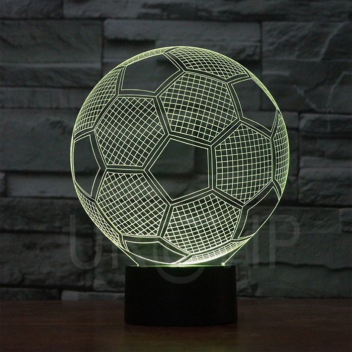 JC-2882 Amazing 3D Illusion led Table Lamp Night Light with football  shape (6)