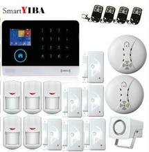 SmartYIBA 3G WCDMA WIFI Home Alarm System Wireless Security Smoke Fire Sensor Alarm APP Control Spanish