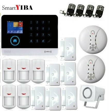 SmartYIBA 3G WCDMA WIFI Home font b Alarm b font System Wireless Security Smoke Fire Sensor