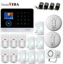 SmartYIBA 3G WCDMA WIFI Home Alarm System Wireless Security Smoke Fire Sensor Alarm APP Control Spanish French Dutch Voice