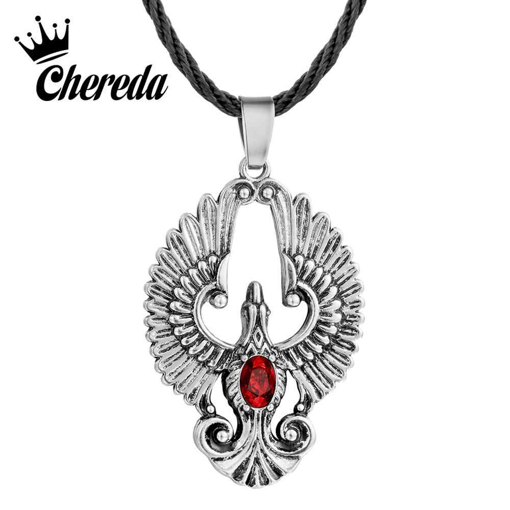 Chereda Phoenix Bird Pendant for Men Beautiful Romantic Animal Male Pendants Unique Statement Ethnic Necklaces Jewelry