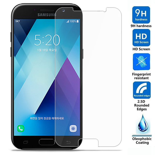 For Samsung Galaxy A5 2017 Tempered Glass 9H High Quality Protective Film Explosion-proof LCD Screen Protector For A520F A520