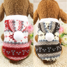 D82 Super Warm Soft Fleece Pet Dog Clothes Winter Snowflake Dog Jacket Sweater Costume Teddy Puppy dog Hoodie Coat