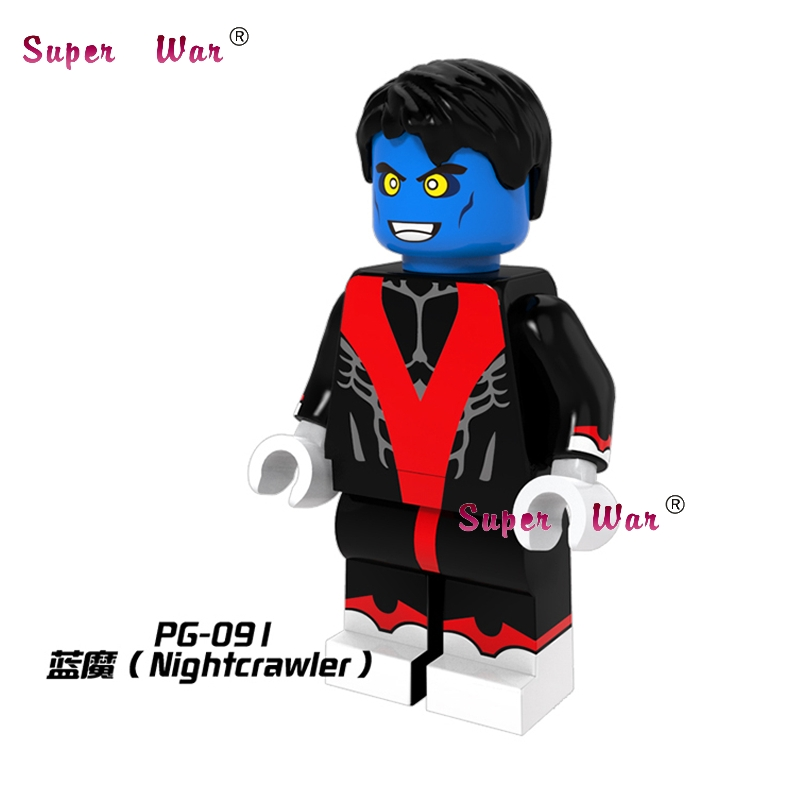 20pcs star wars superhero marvel Nightcrawler Comics Building blocks action figure bricks model educational diy baby toys