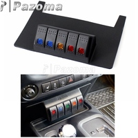 Black Lower Dash Switch Panel Rocker Style Switches for Jeep Wrangler JK