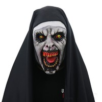 The Conjuring The Nun Cosplay Full Mask Halloween Stage Horror Latex Mask Costume Party Cool Play Prop Drop Ship