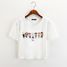 BTS White Crop Tops (5 Models)