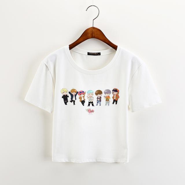 BTS Bangtan Boys Harajuku Short Sleeve Tee Tops