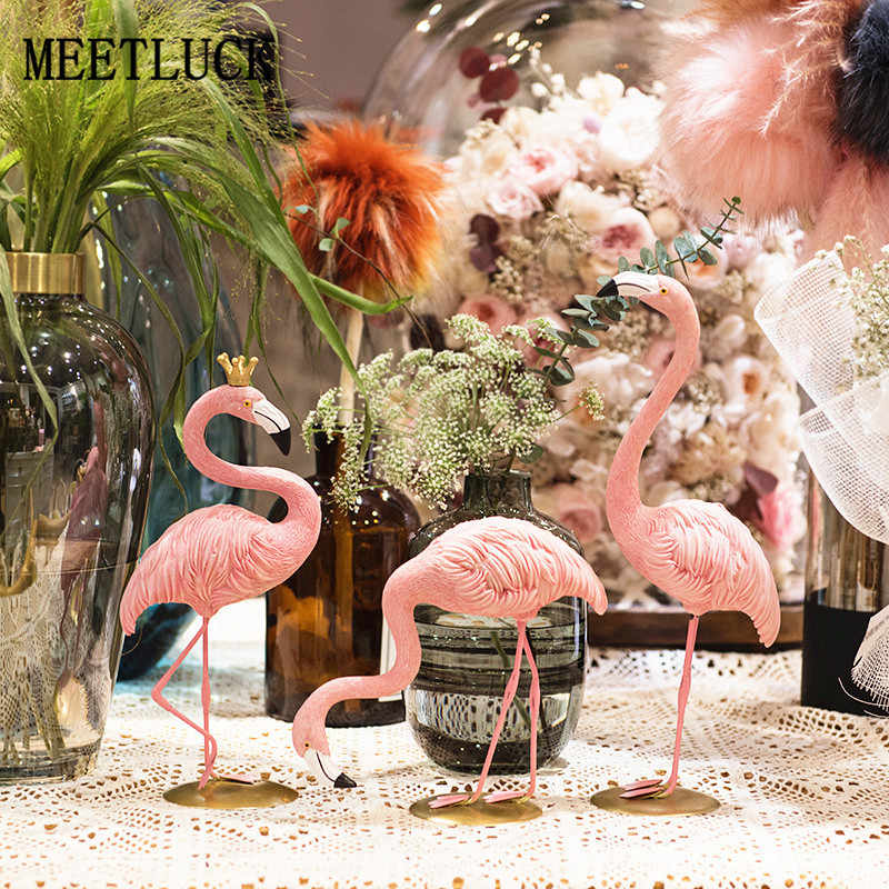 Creative Nordic Style Desktop Ins Flamingo Animal Decorative Bedroom Living Room Shop Window Home Decoration Accessories 1/3 PCS