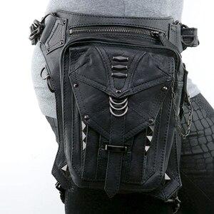 Мотоциклетная сумка в стиле стимпанк, мотоциклетный рюкзак, велосипедная сумка на плечо, сумка из искусственной кожи, поясная сумка для мот...