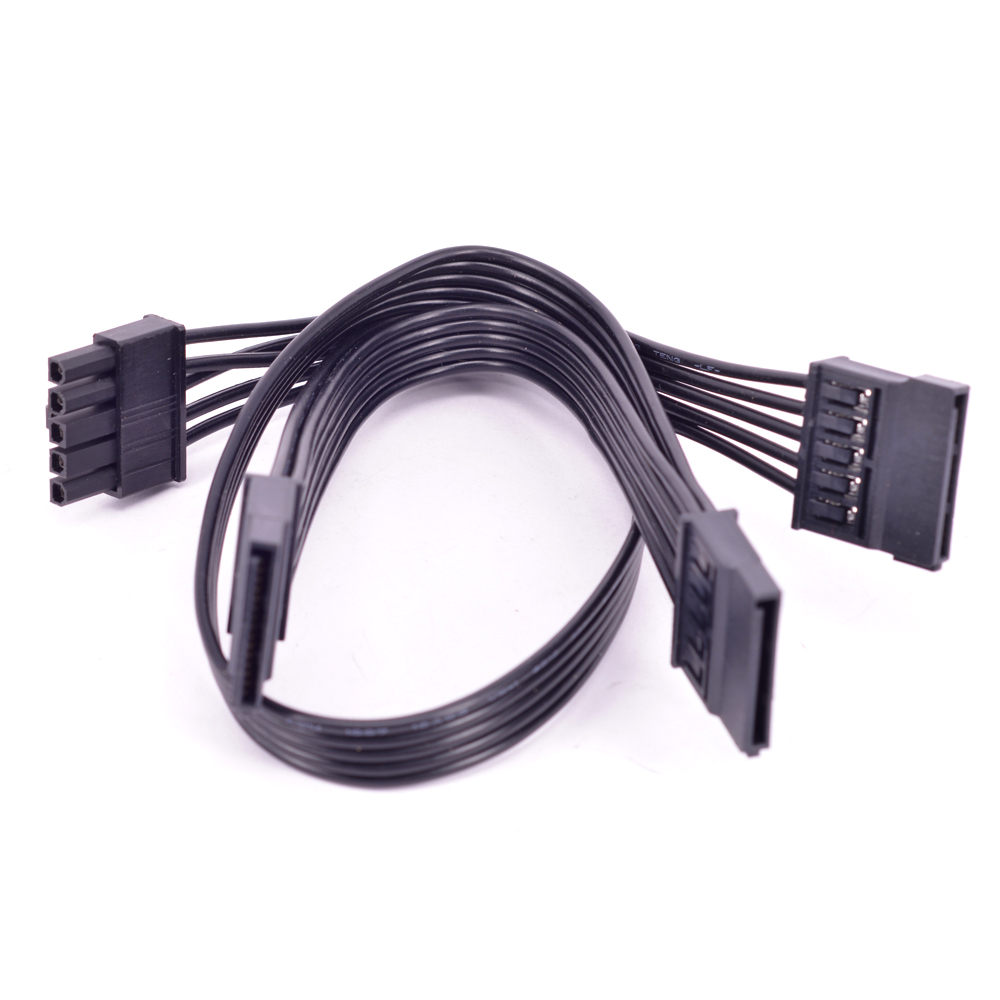 5 Pin To 3 Ports SATA Straight Right Angle Power Supply Cable For Cooler Master Silent Pro Hybrid 1300W 1050W 850W Modular PSU