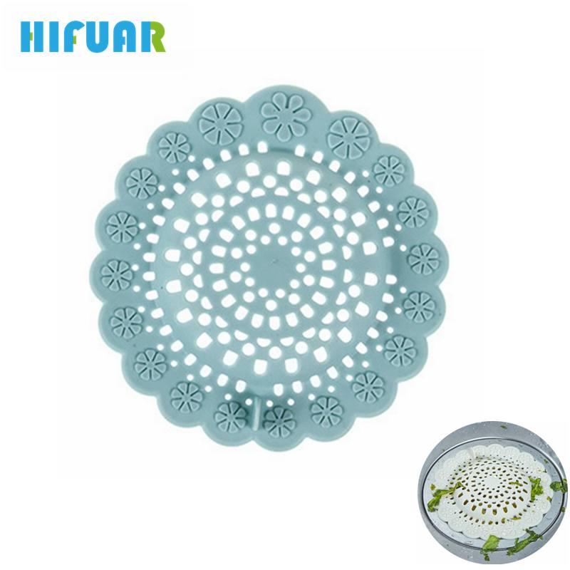 HIFUAR Silicone Colanders Strainers Sink Strainer Drain Sink Filter Stopper Bathtub Kitchen Accessories Gadget Colanders