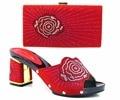 Sandalias de moda Elegante de Zapatos Italianos Y Bolsas Para Que Coincida Con la Piedra Zapatos Con Bolso A Juego Fijado Para La Boda Africana TH16-31