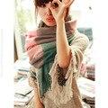 2015 нью-зимний шарф высокое качество шали и шарфы вязаный шарф одеяло неравномерное горячие шотландка плед шарф