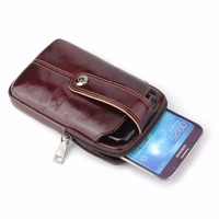 Waist Band Belt Genuine Cow Leather Mobile Phone Case For HTC U12 life/U11 Eyes/U11 Life/U11+/U Play/U Ultra,Desire 12 Plus/12+