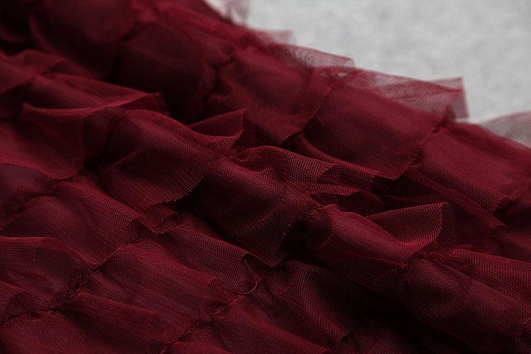 Fête Femmes noir rouge Polka Volants Tenue Rouge Longues Couche Piste Mesh Bikinis Slim Robe À Manches Élégant Dot De Bleu 2019 Vin qwvEnECz