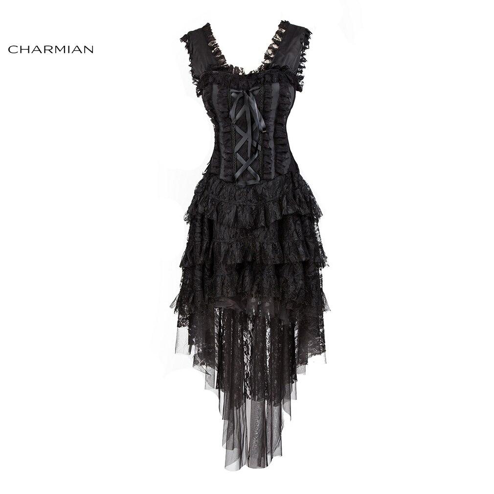 charmian womens vintage victorian retro corset dress