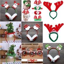 14 видов стилей для взрослых детей Рождество новинка головная Повязка Стильная заколка для волос олень Санта повязки