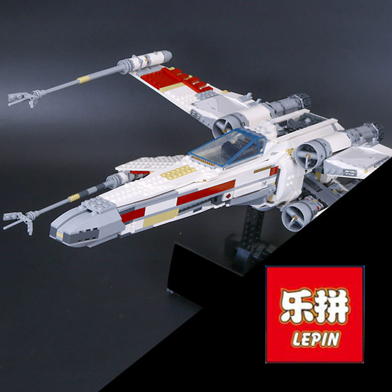 05039 1586pcs Lepin Star Series War Genuine The X Model Wing Red Five Star fighter Set 10240 Building Blocks Bricks Toy Gifts