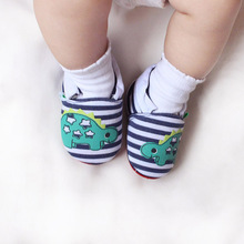 Rubber Striped Cotton Slip-On Baby Shoes For 0-2 Years Old First Walkers Fashion Spring Autumn Babies 2016
