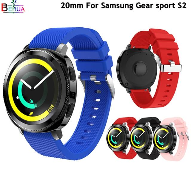 20 MM סיליקון רצועת רצועת השעון עבור Huami Amazift ביפ רצועת עבור Garmin 645 Vivoactive 3 צמיד רצועת עבור Samsung הילוך s2 ספורט