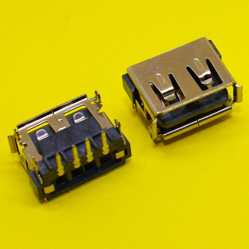 все цены на  New! 10pcs/lot USB 2.0 Port Jack Plug Female Socket Motherboard Connector for Acer Aspire 5232 5241 5516 5517 5532 5541  онлайн