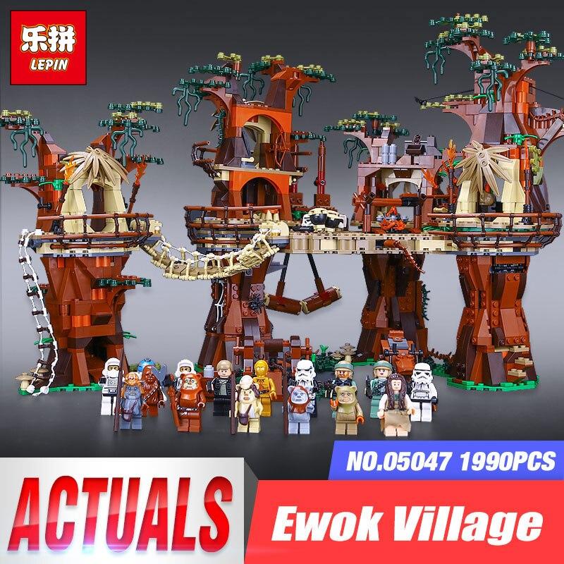 DHL 1990 stücke Lepin Wars auf Stern 05047 E wok Dorf Bausteine Juguete Para Construir Ziegel Spielzeug Kompatibel Legoingls 10236