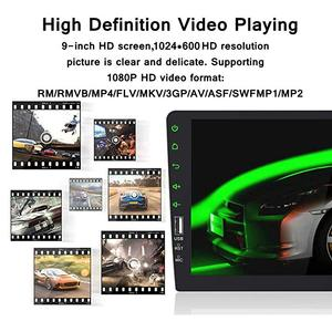 """Image 3 - 9 """"Touch Mirrorlinkโทรศัพท์AndroidวิทยุMP5เครื่องเล่นบลูทูธUSBด้านหลังกล้องวิทยุ1Din Autoradio No Android"""