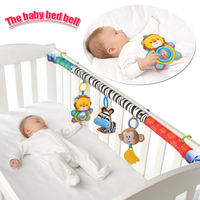 1pcs Baby Hanging Baby Blue Elephant And Pink Bunny Music Toy Baby Bed Stroller Toy Baby