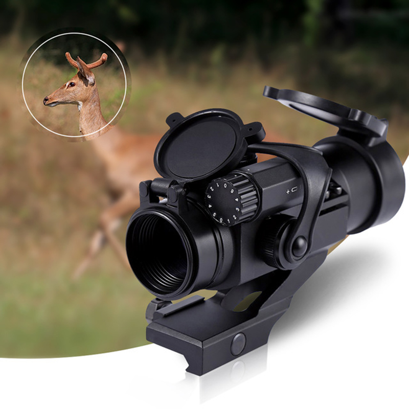 red dot Riflescopes 32mm M2 Sighting Telescope Laser Gun Sight with Reflex Red Green Dot Scope for Picatinny Rail Hunting Tools