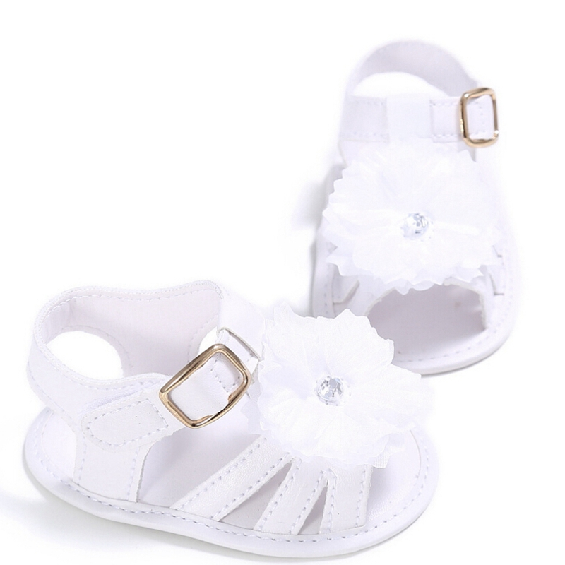 0-18M Baby Infant Kid Boy Girl Summer New Casual Solid Flower Hook Soft Sole Summer Sandals Shoes Hot