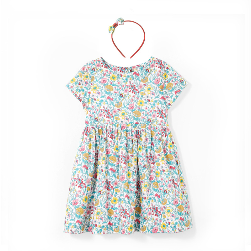 все цены на J Brand girl's cotton green floral dress print dress