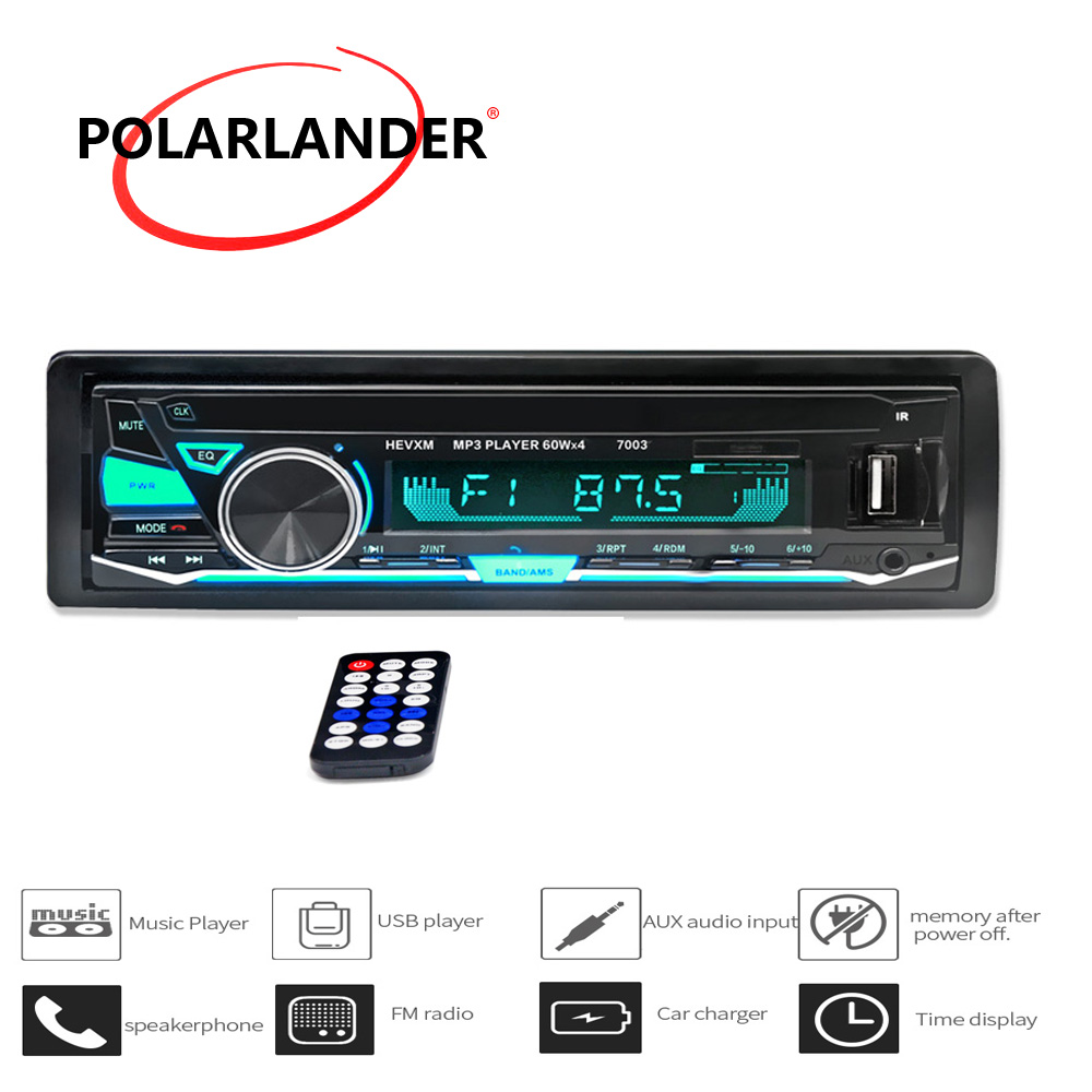 12V <font><b>Bluetooth</b></font> <font><b>Car</b></font> <font><b>Radio</b></font> <font><b>Player</b></font> Stereo FM <font><b>MP3</b></font> Audio USB <font><b>SD</b></font> MMC AUX Auto Electronics In-Dash <font><b>Autoradio</b></font> <font><b>1</b></font> <font><b>DIN</b></font> NO CD image
