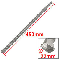 SDS Plus Shank Concrete 22mm Width Head 450mm Long Twist Impact Drill Bit