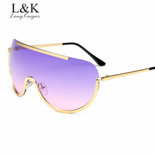Long Keeper Women Mens Half Rim Sunglasses Oversized Sun Glasses Ladies Steampunk Eyewears Alloy Glasses Frame