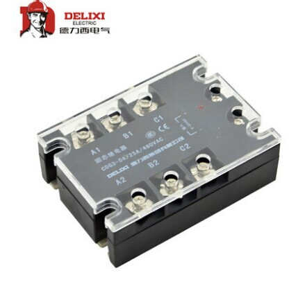 free shipping Genuine SSR three-phase solid state relay DC control AC DA25A contactless relay цена 2017