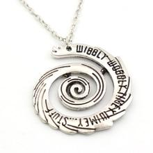 Wibbly Wobbly Timey Wimey Spiral Necklace